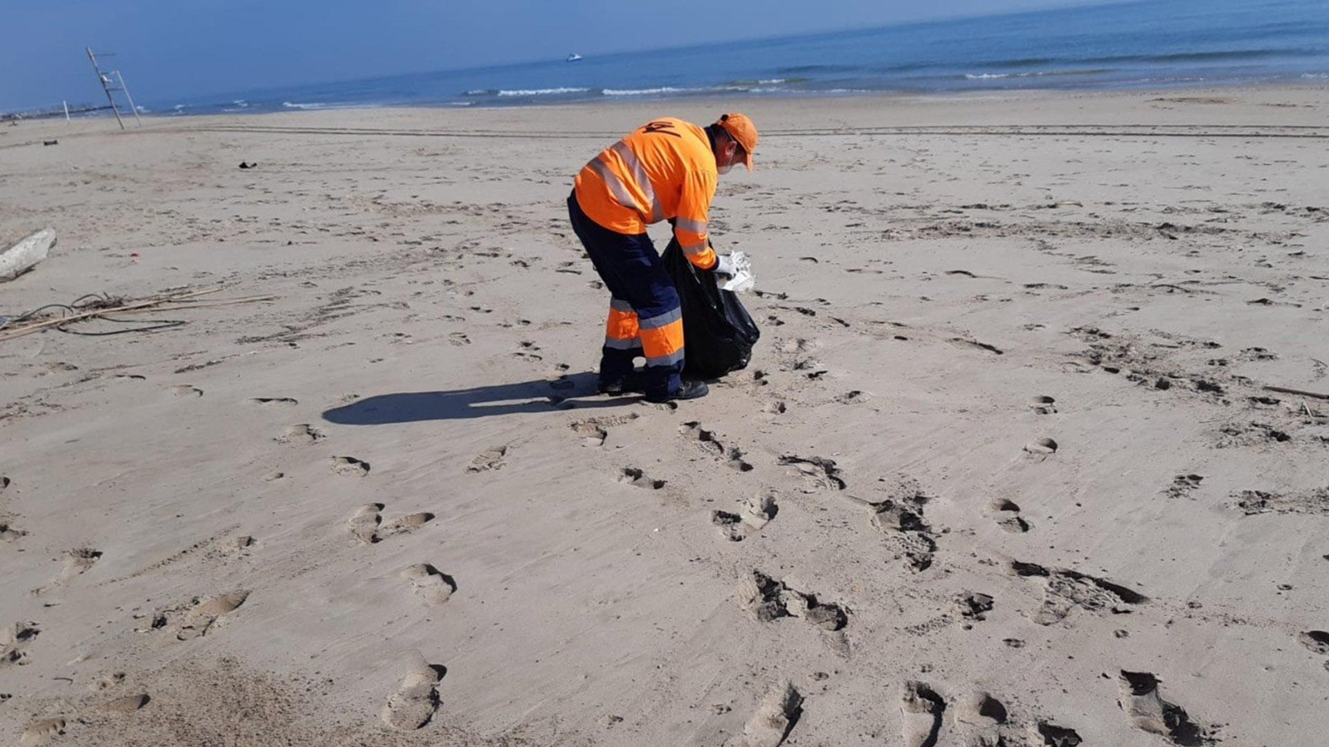 Operativo limpieza playas
